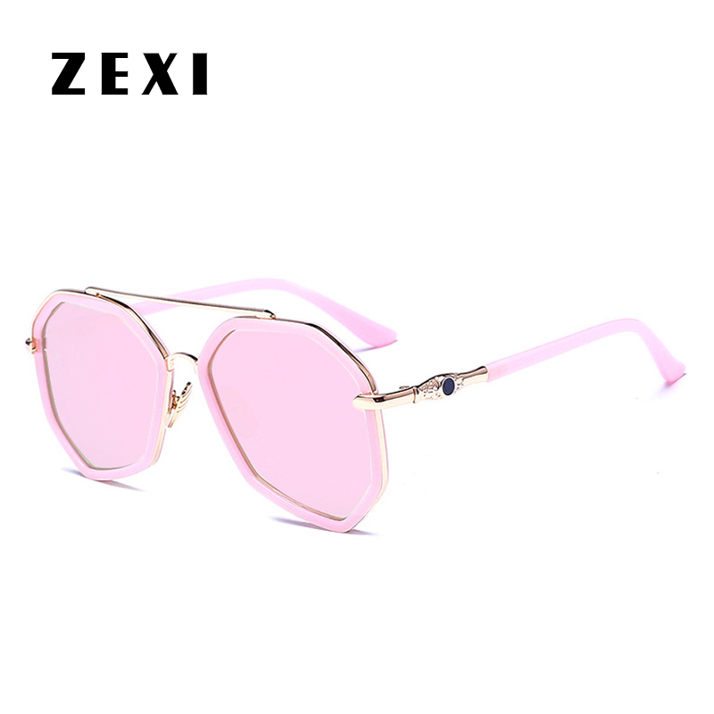 ZEXI 2017 Sonnenbrille Frauen Vollformat Achteckige Sonnenbrille ...