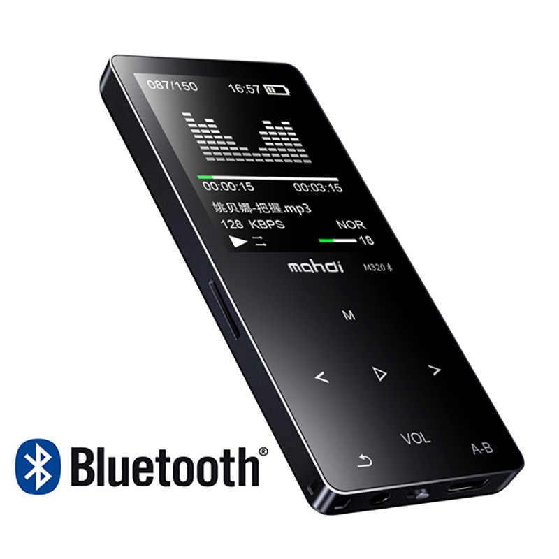 Новый металлический bluetooth mp3 плеер 8 Гб Встроенный динамик fm-радио электронная книга диктофон портативный аудио Спорт flac музыка видео плеер