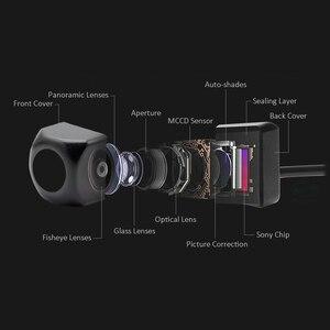 Image 3 - GreenYi cámara de visión frontal y lateral trasera para vehículo, CCD, Ojos de pez, visión nocturna, impermeable, IP68, cámara trasera Universal