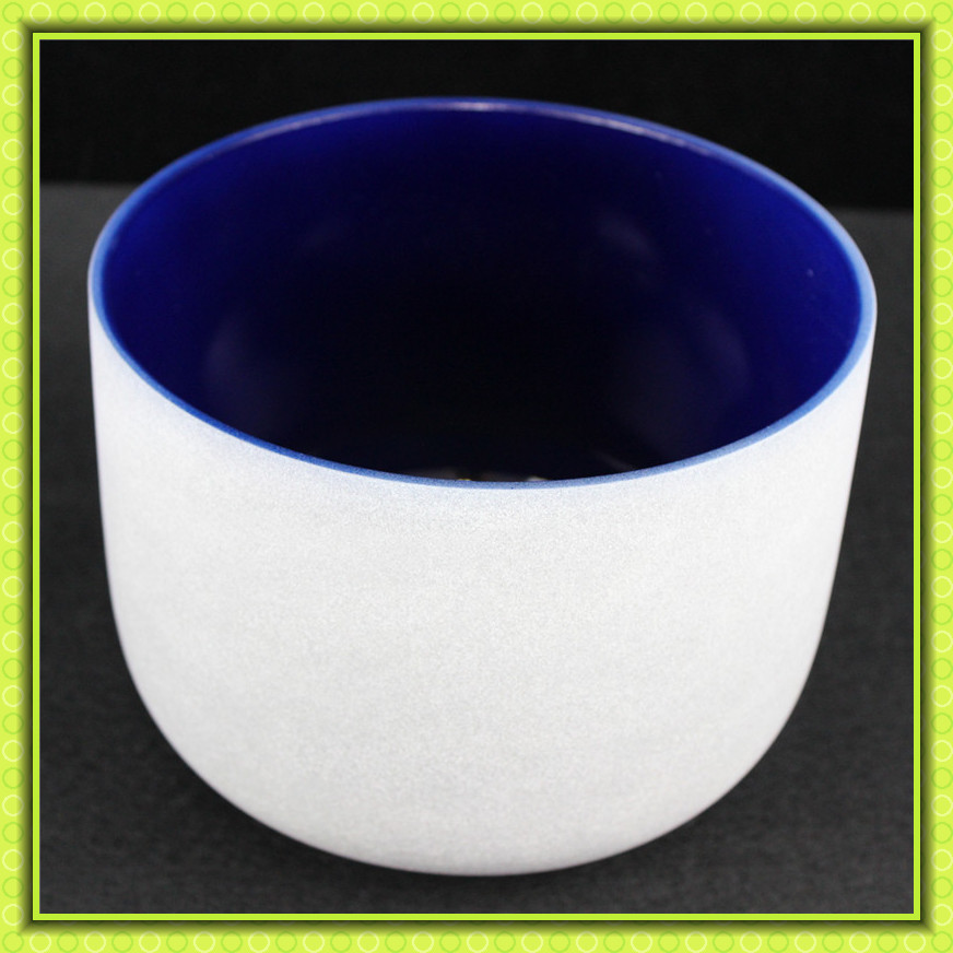 14 Note A Color Indigo Chakra Quartz Crystal Singing Bowl Chakra 3rd-eye for healing 8 indigo color a third eye chakra frosted quartz crystal singing bowl with free suede and o ring