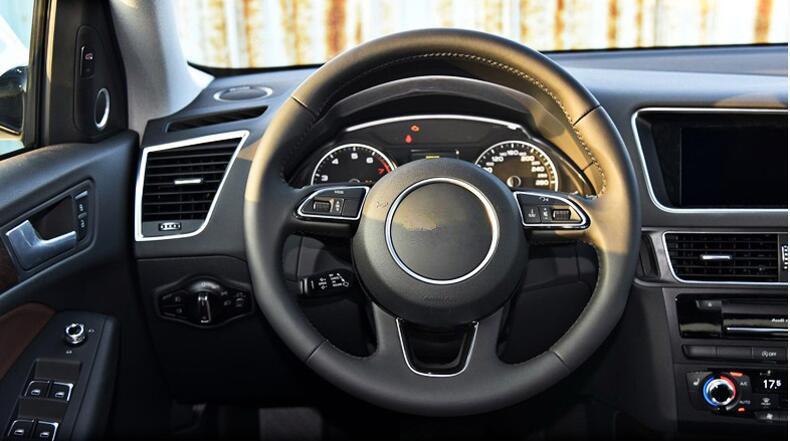 2.3 Dia Triangle Design Auto Steering Wheel Knob Spinner Black Silver Tone