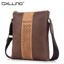 Sxllns Men's Messenger Bag  Brand Handbag Men Shoulder Bags Casual Vintage Genuine Leather Crossbody Bag Briefcase Free Shipping