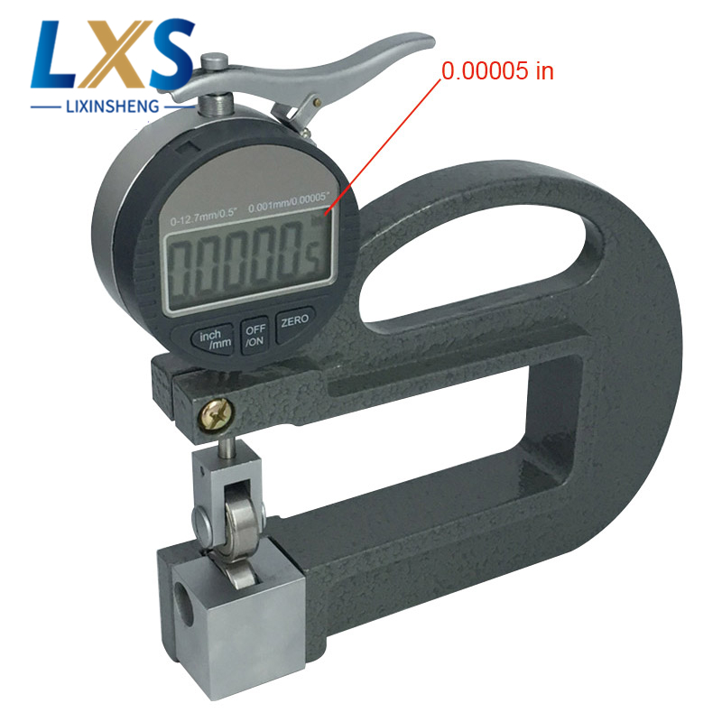 0.001mm Digital Display Continuous Thickness Meter For Rubber/Fabric/Paper Sheet/Metal/Glass