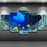 فني طباعة الرسم على قماش hd مطبوعة رذاذ النفط اللوحة مؤطرة جدار الفن صور ديكور المنزل الديكور الأسماك البحرية AE0507