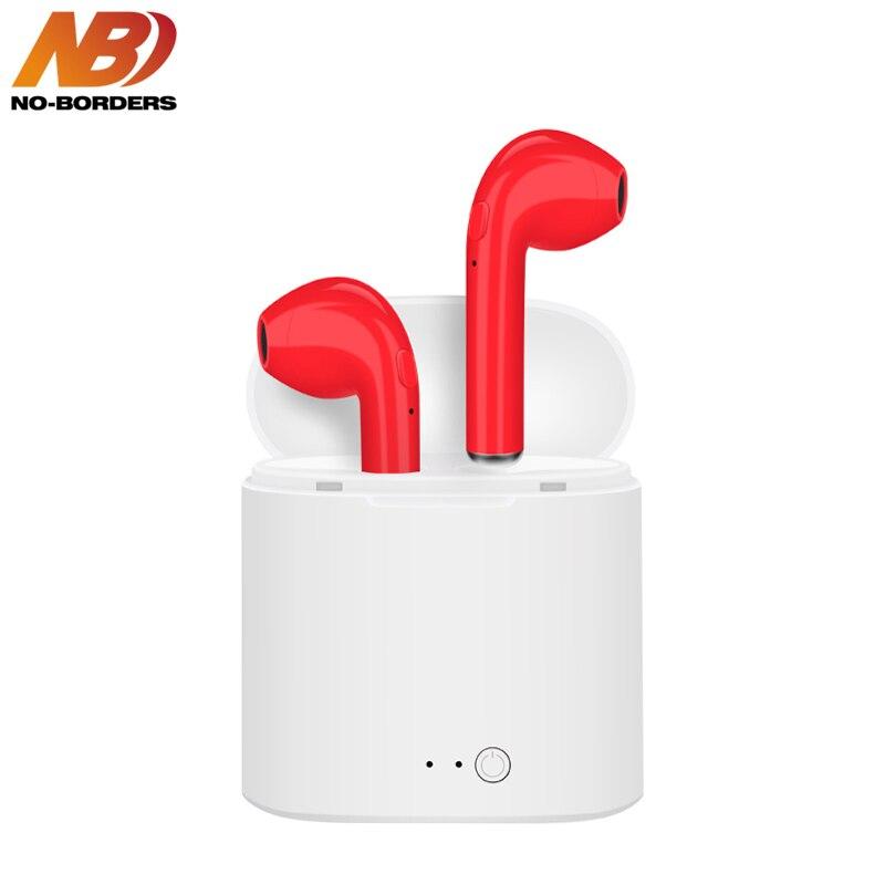 AUCUN-FRONTIÈRES I7S TWS C In-Ear Coloré Sans Fil Bluetooth Double Écouteurs Stéréo Musique Casque Écouteurs Écouteurs Avec Boîte De Charge