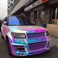Rainbow Chameleon Chrome Vinyl Wrap For Car Wrap With Air Bubble Free COVERING FOIL STICKER 1.38m x 10m