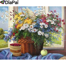 DIAPAI Diamond Painting 5D DIY 100% Full Square/Round Drill Flower landscape Diamond Embroidery Cross Stitch 3D Decor A23699 diapai 100% full square round drill 5d diy diamond painting flower landscape diamond embroidery cross stitch 3d decor a21095