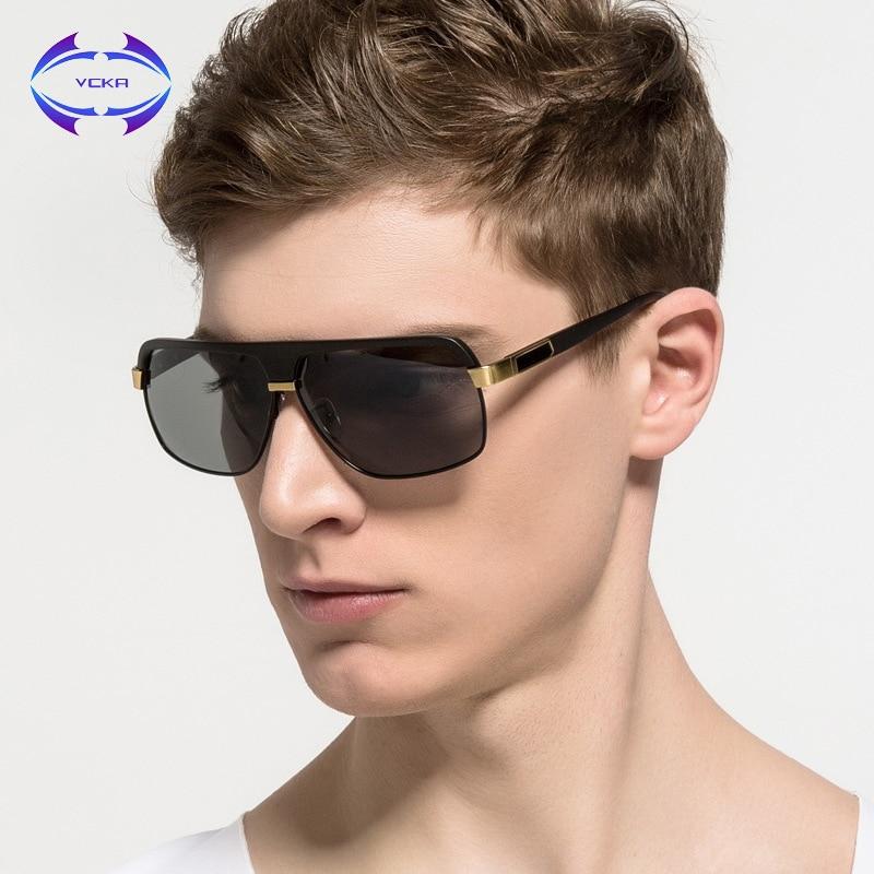 VCKA font b Square b font Oversized Polarized Sunglasses Men Brand Designer Drving Sun Glass HD