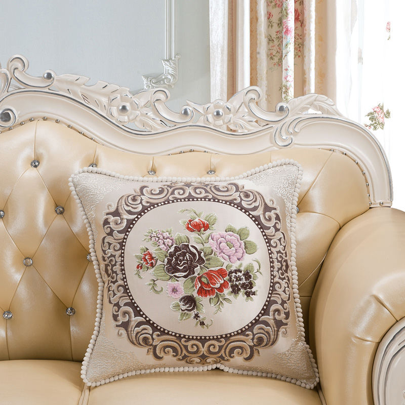Image 2 - CURCYA Luxury European Floral Square Vintage Cushion Cover for Sofa / Beige Special Round Candy Cushion Covers Home Decoration-in Cushion Cover from Home & Garden on AliExpress