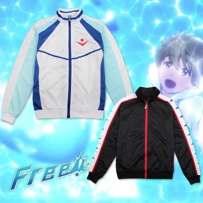 Anime Free! Iwatobi Swim Club Haruka Nanase Cosplay Costume Unisex Hoodie Jacket sweatshirt coat sports wear for Halloween
