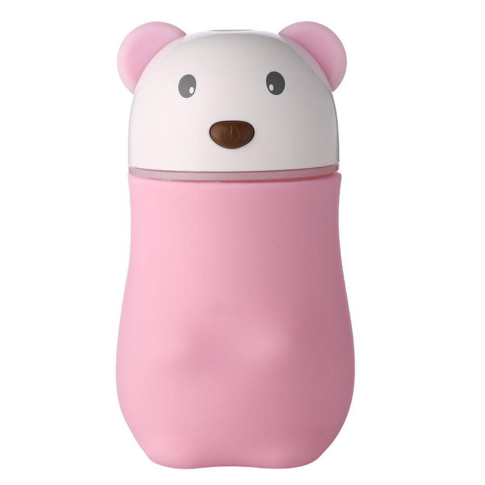 180ML Bear Air Humidifier Mini Air Purifier ABS Aroma Diffuser USB Charging Mist Maker Essential Oil Diffuser For Car Home 5V 5v led lighting usb mini air humidifier 250ml bottle included air diffuser purifier atomizer for desktop car