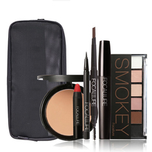 FOCALLURE 6 PCS makeup kits with an exquisit makeup bag in this kit. We just hope you can try it , then you will find