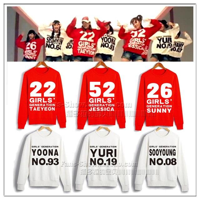 Girls'Generation SNSD TAEYEON YOONA JESSICA SUNNY YURI Name Number ...