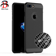 Cooling Phone Case for iPhone 7 Cases Breathable Mesh 8mm Hard Back Cover for iPhone 6 6 Plus 7 Plus Case Housing Heat Release