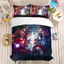Justice League iron Man 3D beding set Marvel Super hero Duvet Covers Pillowcases comforter bedding sets Bruce Wayne Superman