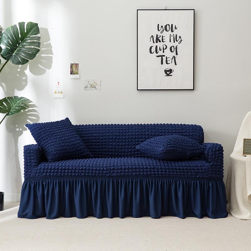 NOUVEAU cintre couverture de lit oreiller Coussin Cas Haute Élasticité Universel protecteur de meubles Cas avec Élégant Jupe