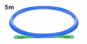 Image 1 - 5m SC APC to SC APC Simplex Single Mode Armored PVC (OFNR) Patch Cable, Cable Jumper