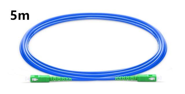 5m SC APC to SC APC Simplex Single Mode Armored PVC (OFNR) Patch Cable, Cable Jumper