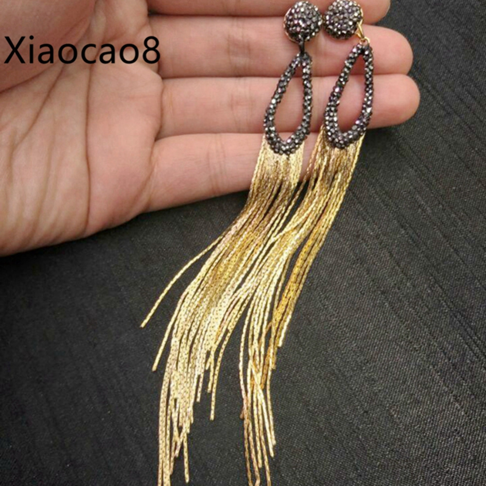 5Pairs Metal Tassel Long Drop Earrings Fahion Womens Jewelry Earing Trendy Dangle Earrings Bijouterie Brincos Costume Jewelery