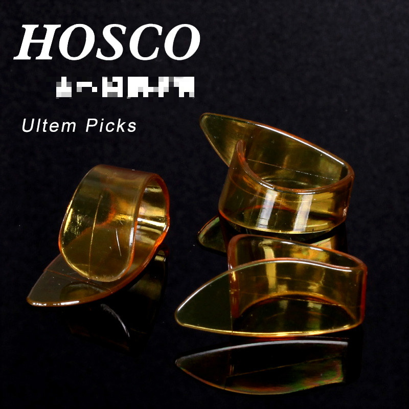 Hosco UL-TM Ultem Thumbpick with 2 Sizes Available for Acoustic Guitar Thumb Pick, Made in Japan Plectrum Mediator