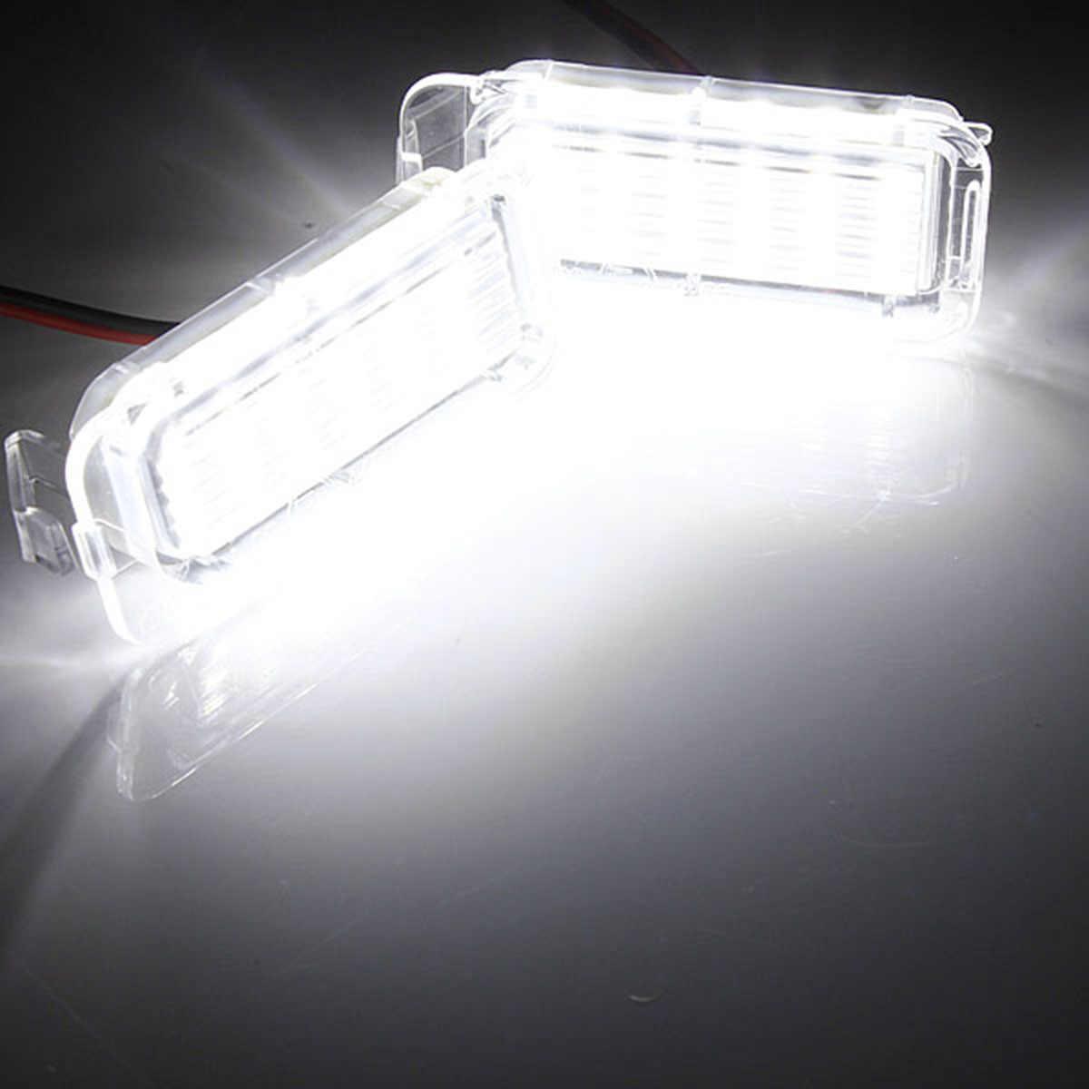 2 قطعة 12 V ضوء لوحة ترخيص مُضاء مصباح علامة ضوء مع 18 المصابيح ل فييستا JA8 التركيز DYB كوغا C-MAX S-MAX مونديو BA7-الضوء الأبيض