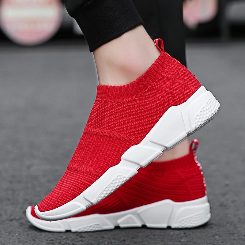 Weweya Hollow Red Shoes Men Casual Sock