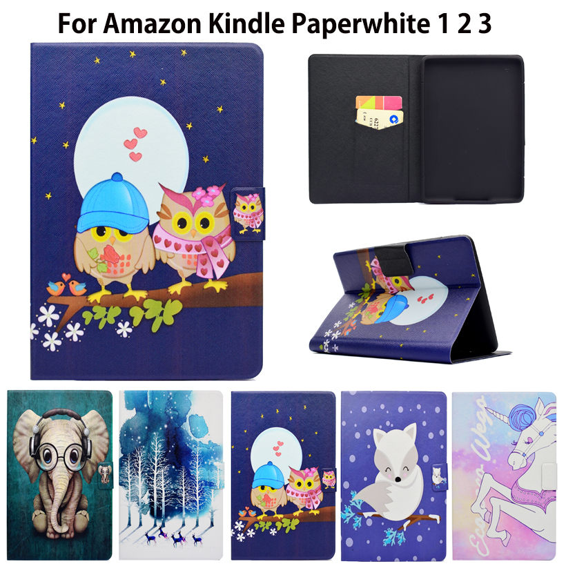 Ultra Slim Cover Case for Amazon Kindle Paperwhite 1 2 3 6 Case for Kindle Paperwhite 6inch Tablet Shell Sleep&Wake Up Funda mdfundas flower animal pattern cover for amazon kindle paperwhite 1 2 3 case flip stand leather shell for kindle paperwhite 3