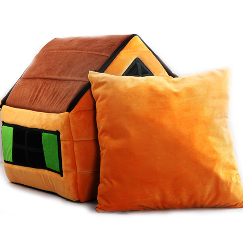 Dog House Mat Small Dog Cat Puppy Pet Bed Fleece Chocolate Soft Dog Cottage Suede Cabin
