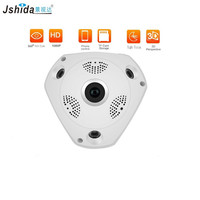 360 Camera IP Fish Eye Panoramic 1080P WIFI PTZ CCTV 3D VR Video IP Kamera Cam Micro SD Card Audio Remote Home Monitoring