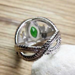 Image 3 - O senhor dos anéis 925 prata esterlina aragorn anel de barahir lotr anel de casamento moda masculino jóias fã presente alta qualidade