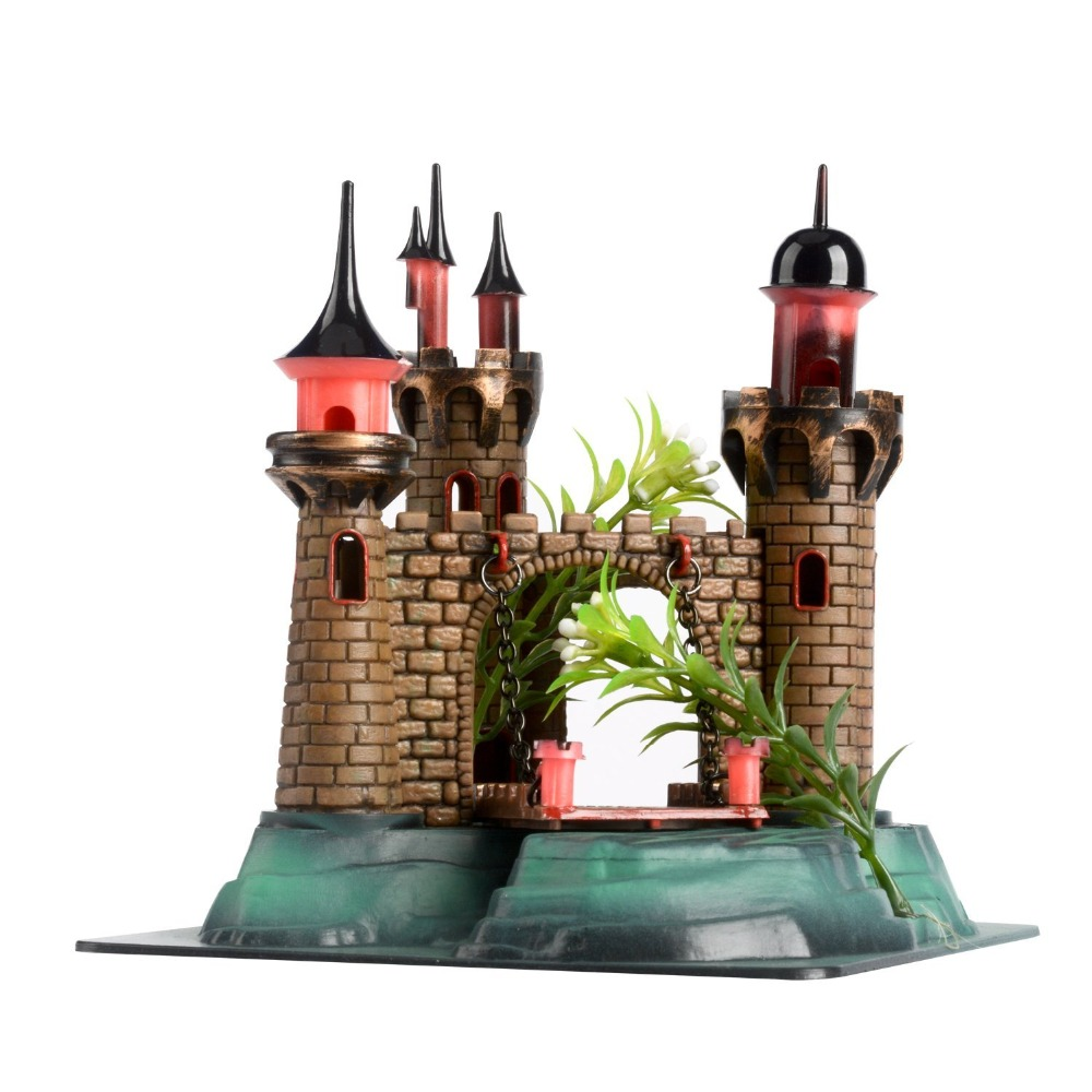 fish tank aquarium decoration plastic large castle decorative aquarium landscape decoration accessories supplies in decorations from home garden on