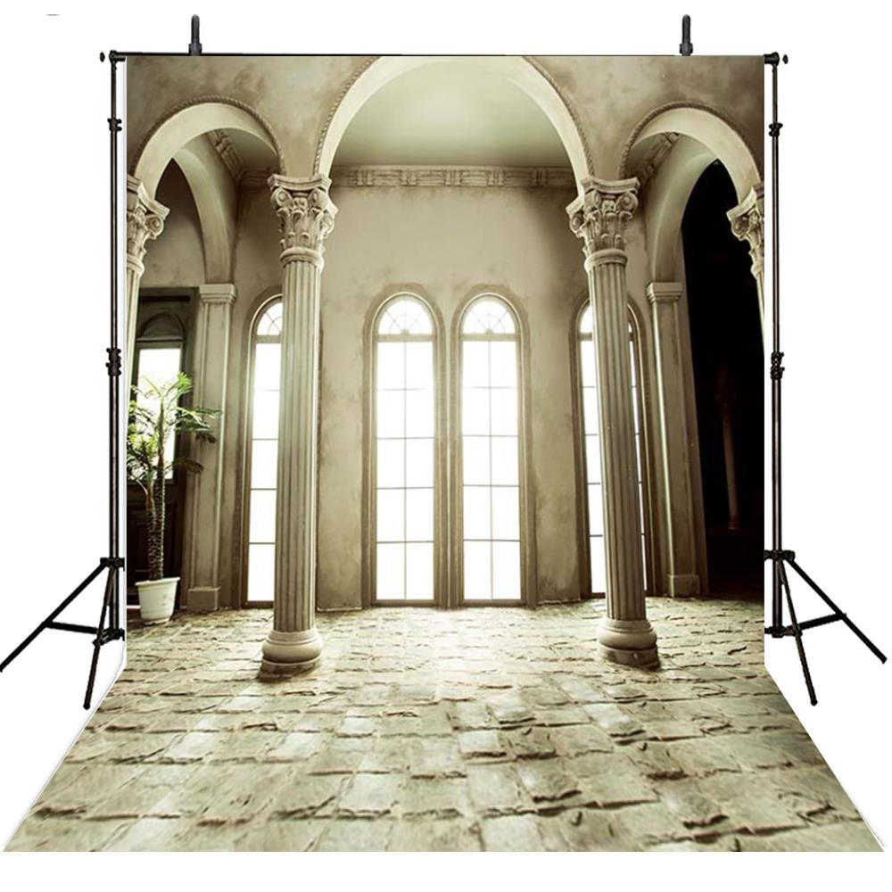Exterior: Greek Column Palace Arch Door Backgrounds Vinyl Cloth High