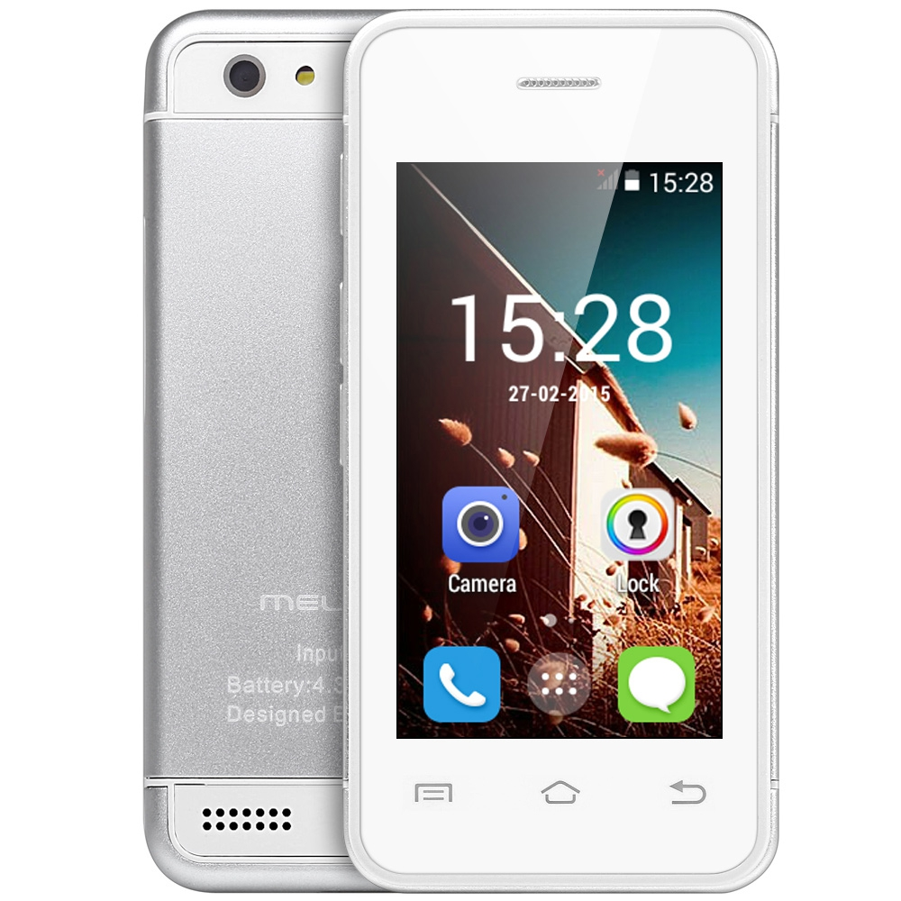 bilder für Melrose s9 2,4 zoll ultra-slim mini 3g smartphone androrid 4,4 MT6572 Dual Core 512 MB + 4 GB Bluetooth Kamera WiFi Handy