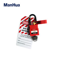 38mm Keyed Alike Red Padlock  Insulation shackle For Ralay Switch Anti-touch Safety Lockout