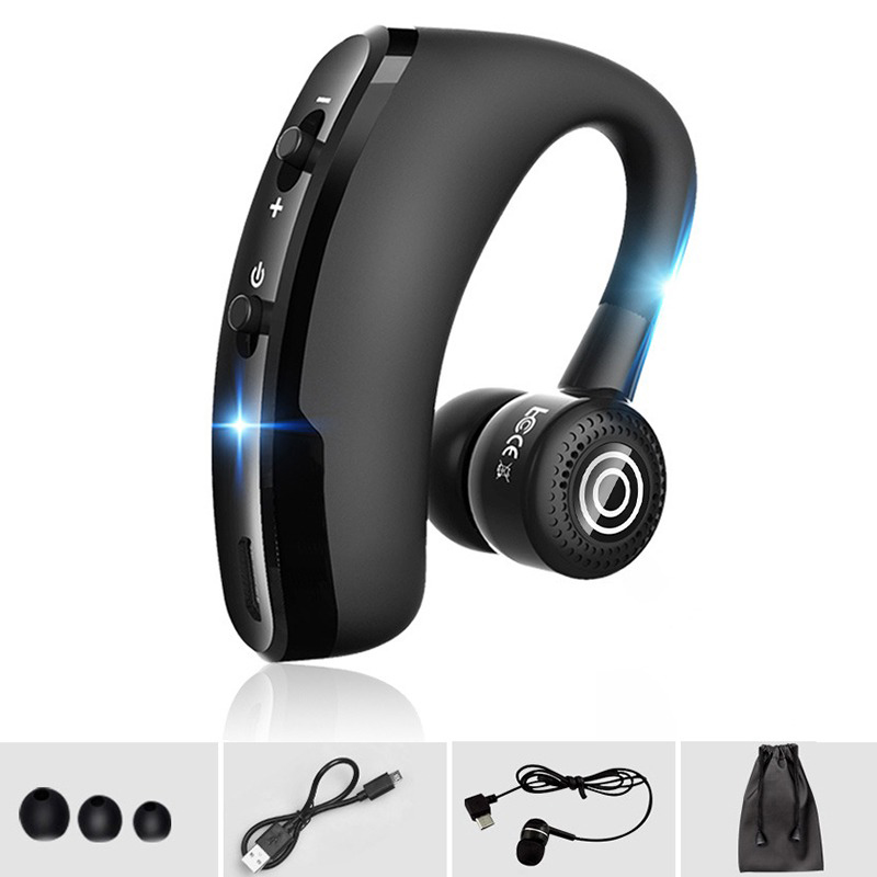 Evida V8s Business Wireless Headset Bluetooth Handsfree Earphone with MIC Noise Cancelling Car Driving for all phones