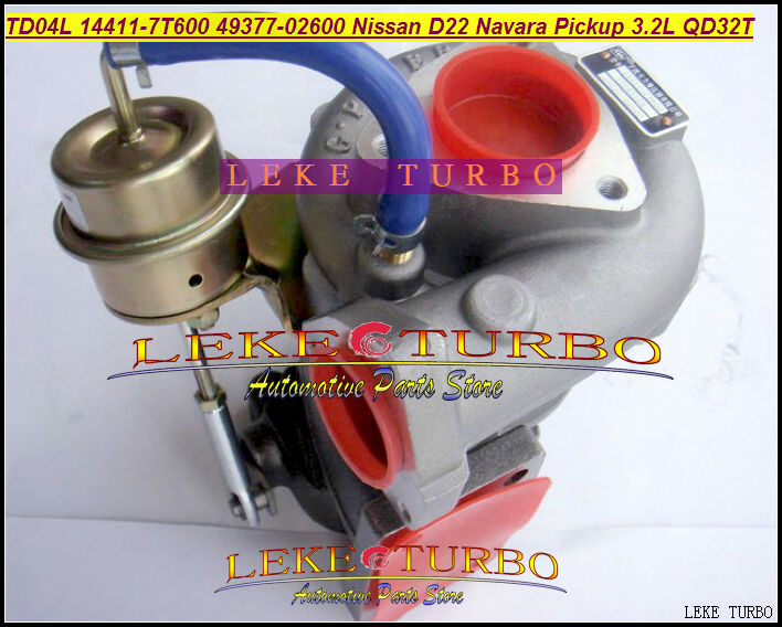 TD04L 14411-7T600 49377-02600 49377 02600 Turbo Turbocharger For Nissan Navara Pickup D22 TD27 NS25 QD32 QD32T 3.2L With Gaskets динамик нч wavecor sw178wa01 01 1 шт