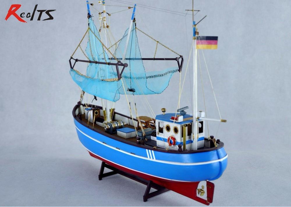 RealTS wood ship kit scale 1/48 Pellworm crab fishing boat pel 256 wooden ship model случай на мосту через совиный ручей