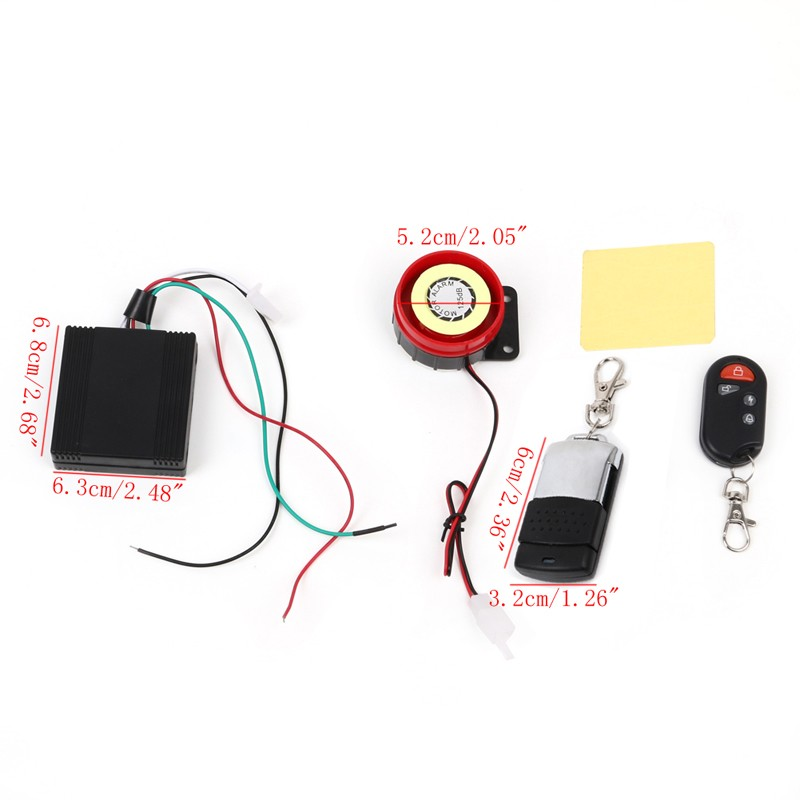 Scooter Car Security Alarm System Remote Control 12V Anti-theft Motorcycle Bike universal one way car alarm security system with four buttons remote transmitters suitable for all kinds of cars fast shipping
