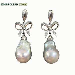 embellish code dangle earrings freshwater pearl for women c761429828fe
