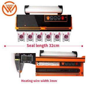 Image 5 - Womsi Grote Vacuüm Sealer Verpakking Machine Huishoudelijke Vacuüm Sluitmachine Verpakkingsmachine Vacuüm Afdichting Houden Voedsel Vers