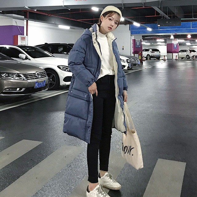 Hooded Ladies Coat Long Coats Parka oversize Colour jacket  4