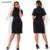 Cocoepps moda lentejuelas mujeres vestidos de gran tamaño de cuello alto ocasional dress plus tamaño ropa 5xl 6xl de manga corta dress