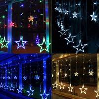 Christmas LED String Light AC220V EU Romantic Fairy Star Curtain LED String Light For Party Wedding