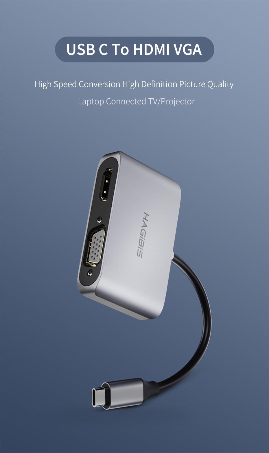 USB C to HDMI VGA 1