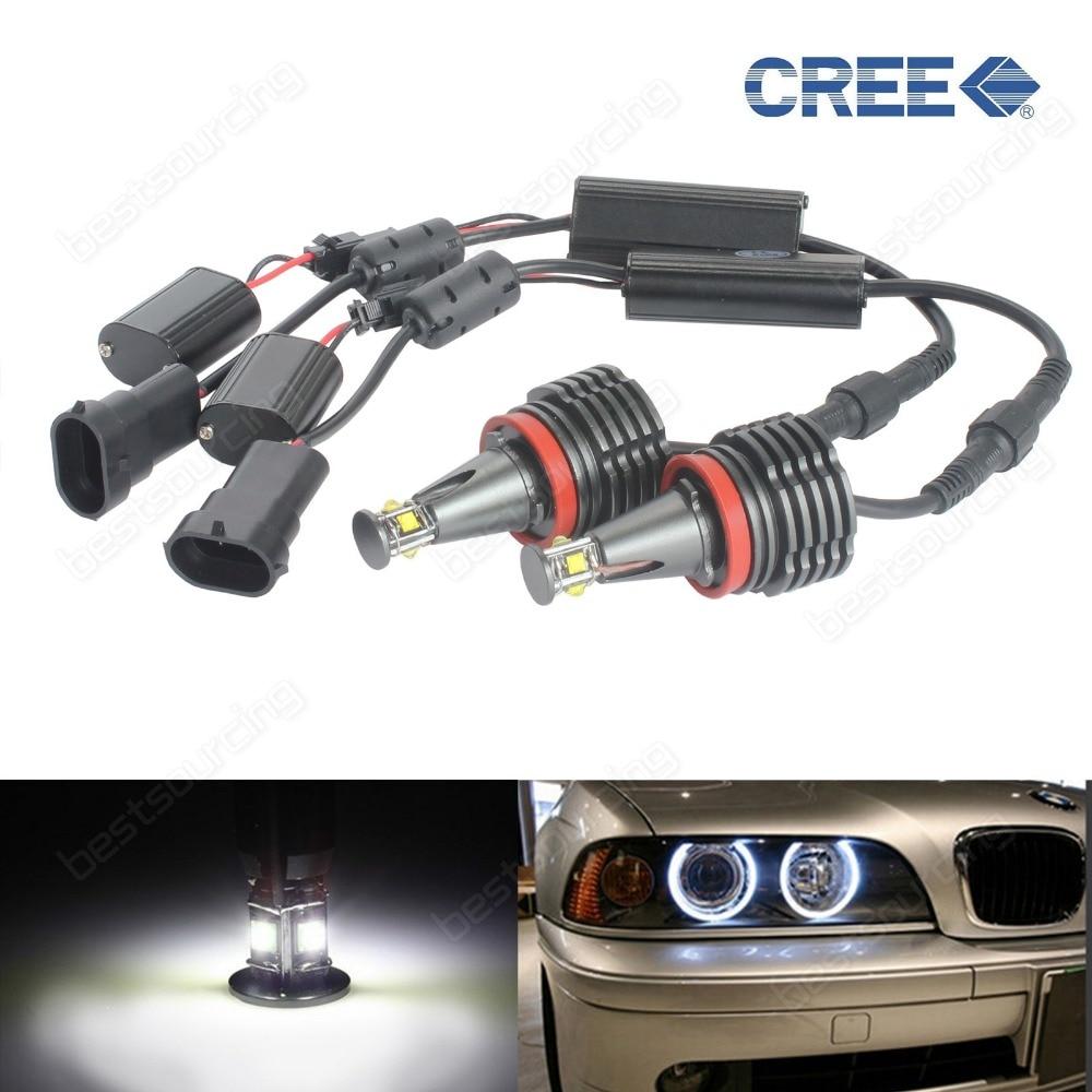 Бесплатная доставка 20 Вт н8 4 светодиод Cree светодиодный маркер Ангел глаз для BMW Е92 Е93 Х5 Х6 2009 года Е87 Е90(CA141)