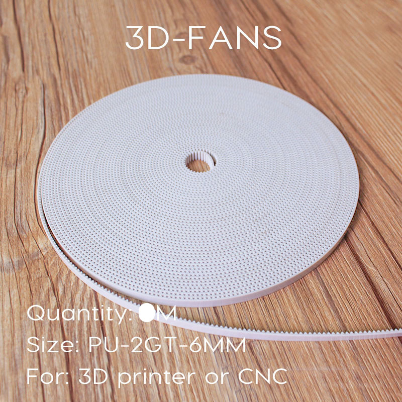 10M 3D Printer PU with Steel Core 2GT   GT2 Timing Belt 6mm Width