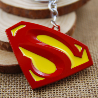 DC Comics Movie Superman Vs Batman Action Figure Metal Keychain Toy Pendant Chaveiro Stainless Steel
