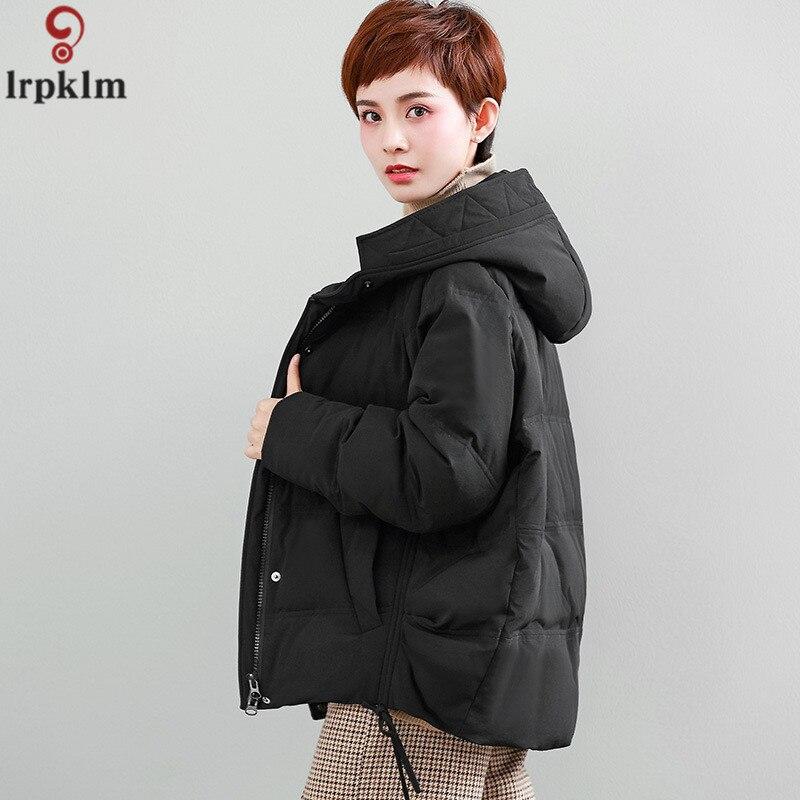 2018 nouveau femmes doudoune grande taille femmes doudoune à capuche lâche femme veste mode Zipper manteau femme