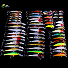 HENGJIA 56Pcs Almighty Mixed Fishing Lure Bait Set Wobbler Crankbaits Swimbait Minnow Hard Baits Spiners Carp Fishing Tackle 2016 minnow hengjia 43pcs lot fly fishing lure set china hard bait jia lure wobbler carp 6 models fishing tackle wholesale