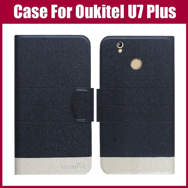 Oukitel U7 Plus Väska Ny ankomst 5 färger Mode Flip Ultratunt - Reservdelar och tillbehör för mobiltelefoner - Foto 1